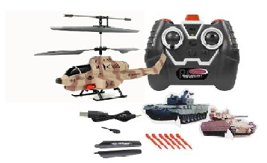 Remote Control Missile Shooting Helicopter